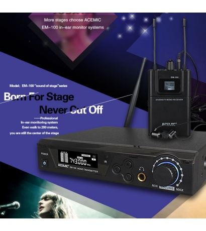 ACEMİC    EM-100 UHF Wireless In-Ear Monitoring System