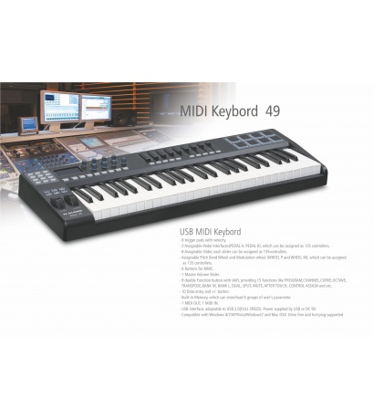 N-AUDİO MİDİ KEYBOARD 49