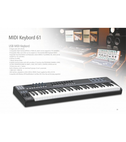 N-AUDİO MİDİ KEYBOARD 61