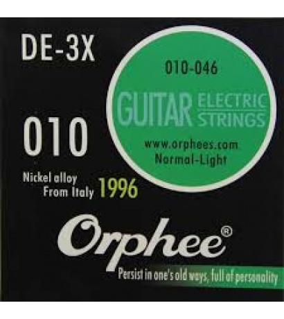 ORPHEE DE-3X 010  NORMAL LIGHT  ELEKTRO GİTAR TAKIM TEL
