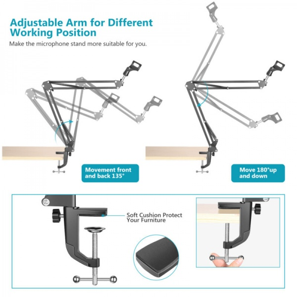 D-STAND  RS-39 50CM KABLOLU RECORDİNG MİCROPHONE STAND